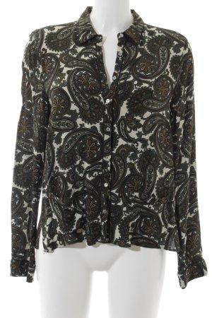 Zara Woman Hemd-Bluse florales Muster extravaganter Stil