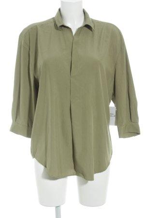 Zara Woman Hemd-Bluse grüngrau Casual-Look