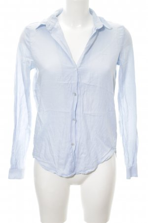 Zara Woman Hemd-Bluse himmelblau Business-Look