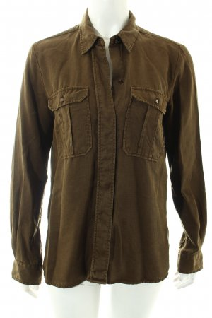 Zara Woman Hemd-Bluse olivgrün Casual-Look