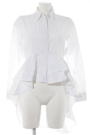 Zara Woman Hemd-Bluse weiß Elegant
