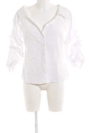 Zara Woman Hemd-Bluse weiß extravaganter Stil