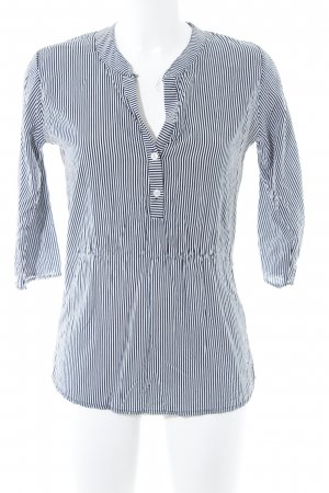 Zara Woman Hemd-Bluse weiß-schwarz Streifenmuster Casual-Look
