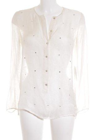 Zara Woman Hemd-Bluse weiß Street-Fashion-Look
