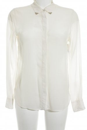 Zara Woman Hemd-Bluse wollweiß