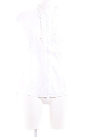 Zara Woman Hemd-Bluse wollweiß Business-Look