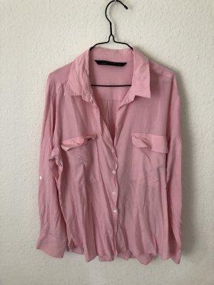 Zara Woman Hemd Pink