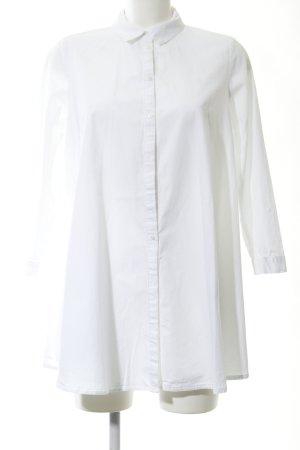 Zara Woman Abito blusa camicia bianco stile professionale