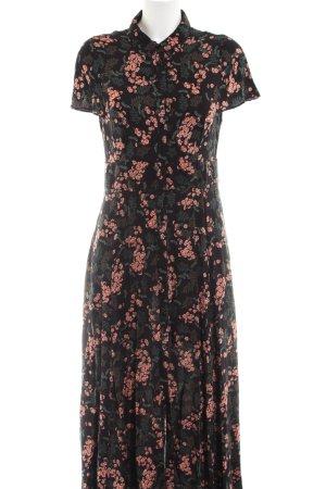 Zara Woman Shirtwaist dress black-red allover print casual look