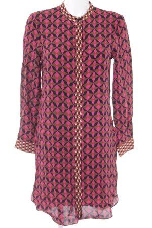 Zara Woman Robe chemise motif abstrait style décontracté