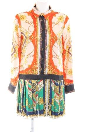 Zara Woman Shirtwaist dress abstract pattern casual look