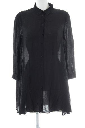 Zara Woman Hemdblusenkleid schwarz schlichter Stil