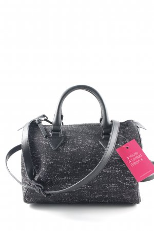 Zara Woman Carry Bag black-silver-colored flecked casual look