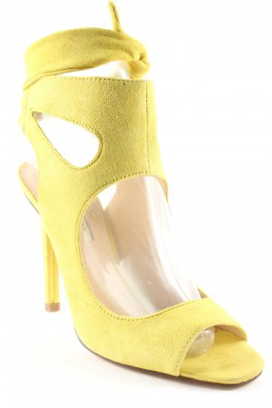 Zara Woman High Heel Sandal lime yellow elegant