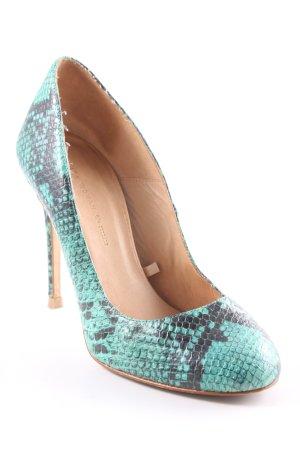 Zara Woman High Heels mint-dunkelgrau Animalmuster extravaganter Stil