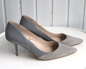Zara Woman High-Heels, Pumps, Pfennigabsatz, Gr. 41, grau