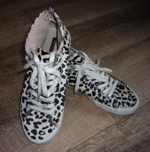 Zara Woman High Top Sneaker Fell Leo Nieten mit Reißverschluss 39