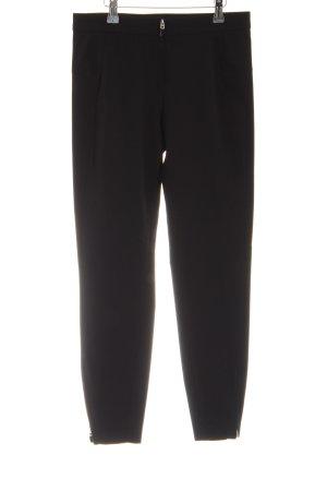 Zara Woman Pantalone a vita alta nero stile casual
