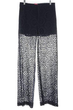 Zara Woman Pantalone a vita alta nero punto treccia stile stravagante