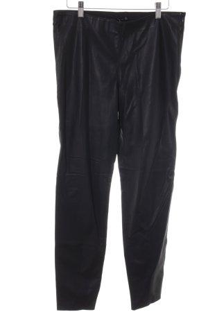 Zara Woman Pantalón de cintura alta negro Estilo ciclista