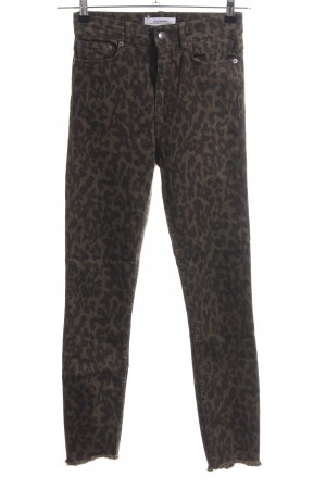 Zara Woman High Waist Jeans Animalmuster Animal-Look