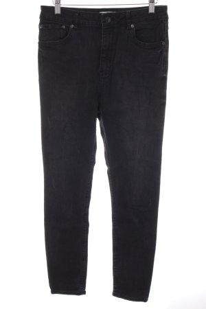 Zara Woman High Waist Jeans anthrazit Casual-Look
