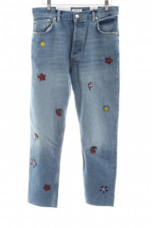 Zara Woman Hoge taille jeans blauw straat-mode uitstraling