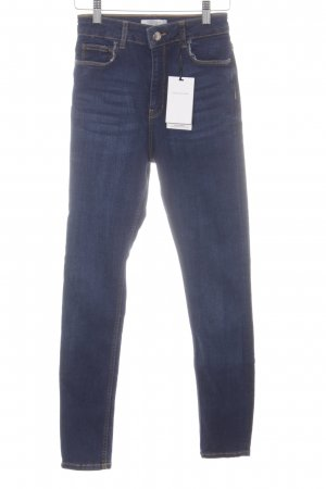 Zara Woman High Waist Jeans dunkelblau Jeans-Optik
