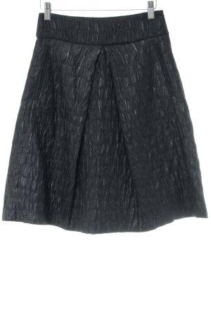 93d48e88874d7d Zara Woman Jupe taille haute noir style décontracté