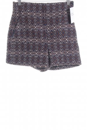 Zara Woman High-Waist-Shorts abstraktes Muster Boho-Look