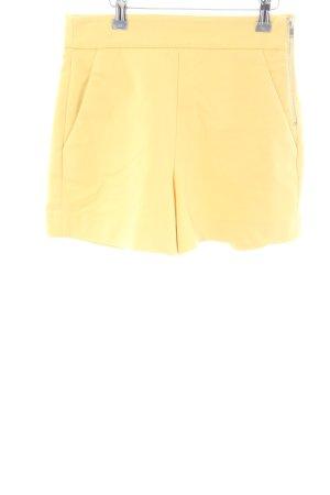 Zara Woman High-Waist-Shorts blassgelb Casual-Look