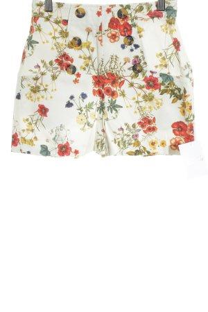 Zara Woman Pantalón corto de talle alto estampado floral look Street-Style