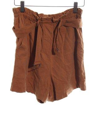 Zara Woman High-Waist-Shorts braun Casual-Look