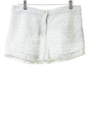 Zara Woman High-Waist-Shorts weiß Beach-Look