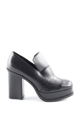Zara Woman Tacones de plataforma negro estilo urbano