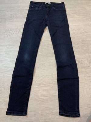 Zara Woman Pantalone a vita bassa blu scuro