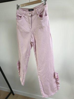 Zara Woman Hose mit Rüschen in Blush Größe s