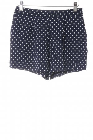 Zara Woman Hot Pants dunkelblau-weiß Punktemuster Casual-Look