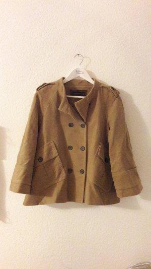 Zara Woman Jacke ausgestellte Form A-Linie Beige Caban Kurzjacke