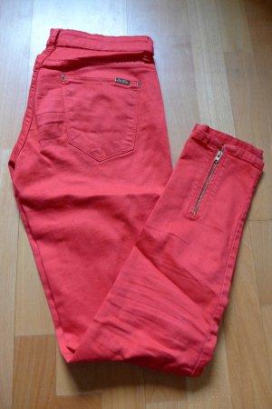 Zara Woman Jeans Hose Skinny rot, Gr, 36/38