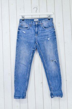 Zara Woman Jeans boyfriend multicolore Cotone