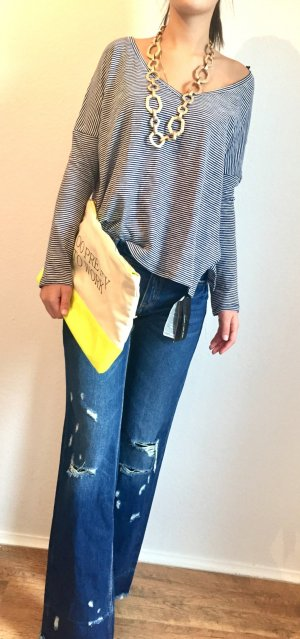 Zara Woman Jeans Schlag used look destroyed Gr. S neu