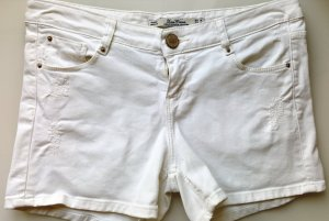 Zara Woman Jeans Shorts, Hotpants, Premium Denim, Weiß used-Look, Gr. 36, neuwertig!
