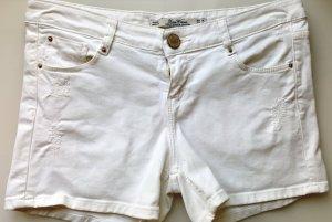 Zara Woman Jeans Shorts, Hotpants, Premium Denim, Weiß used-Look, Gr. 36, neuwertig!