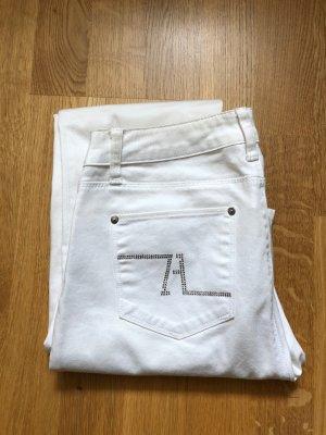 Zara Woman Pantalón de cinco bolsillos blanco
