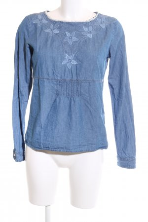 Zara Woman Jeansbluse blau Casual-Look