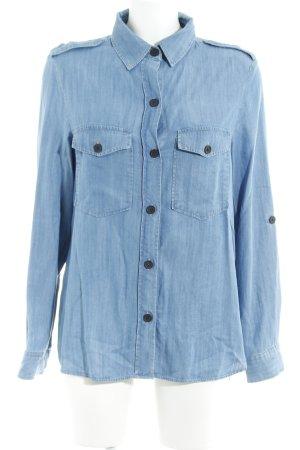 Zara Woman Spijkershirt korenblauw Jeans-look