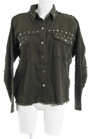 Zara Woman Jeansjacke khaki Casual-Look