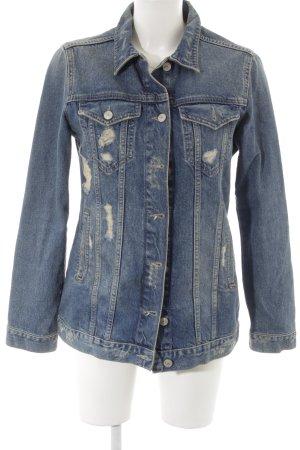 Zara Woman Jeansjacke stahlblau-blau Casual-Look