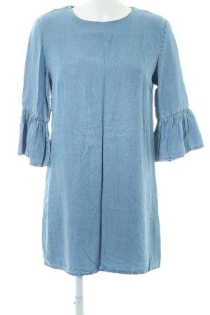 Zara Woman Jeanskleid hellblau Casual-Look